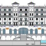 plano fachada hotel miramar