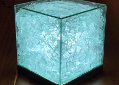 Lampara textura cristales